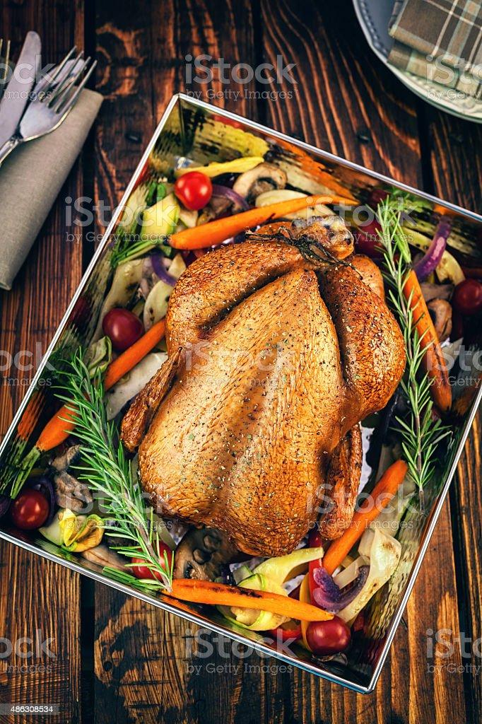 Roasted Turkey stock photo