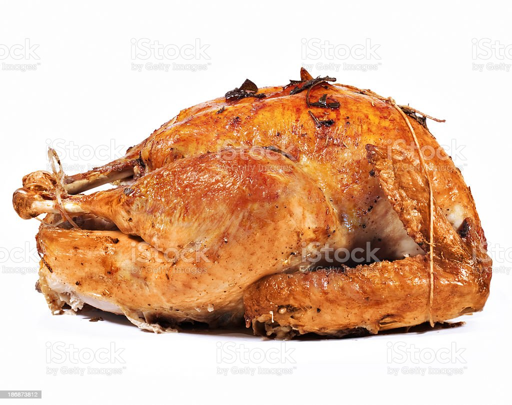 Roasted Turkey Side view stock photo