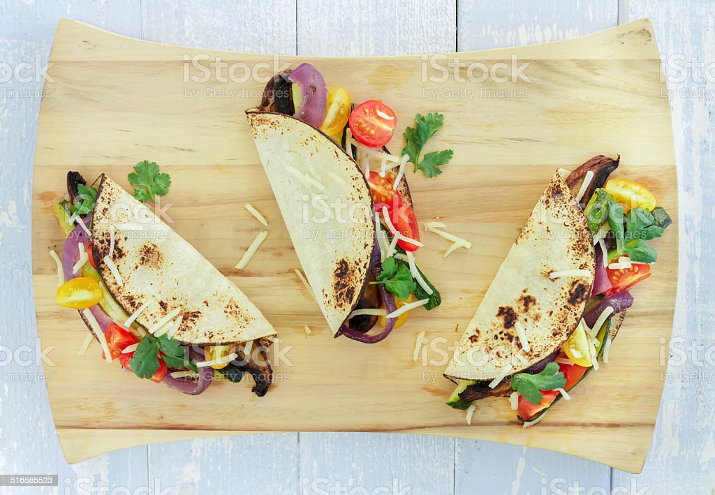 Roasted Vegetable Tacos stock photo