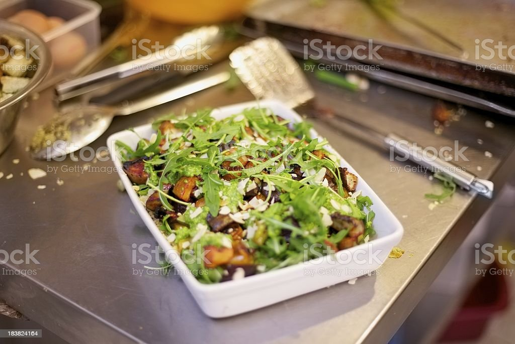Roasted Vegetables and Rocket Salad... stock photo
