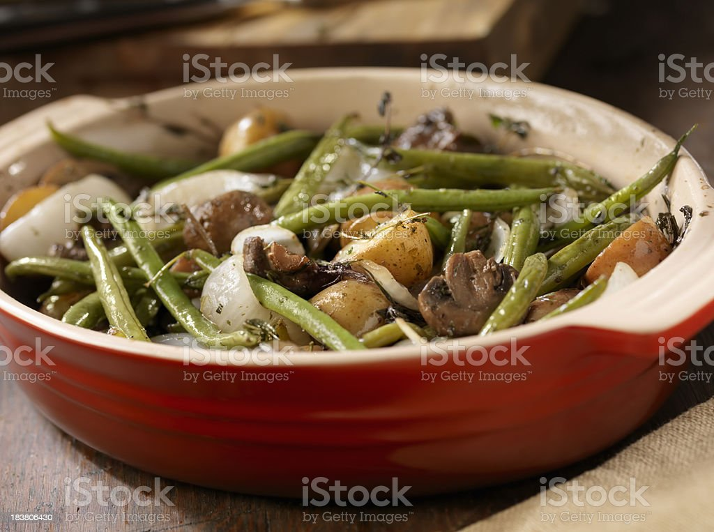 Roasted Vegetables in a Casserole Dish royalty-free stock photo