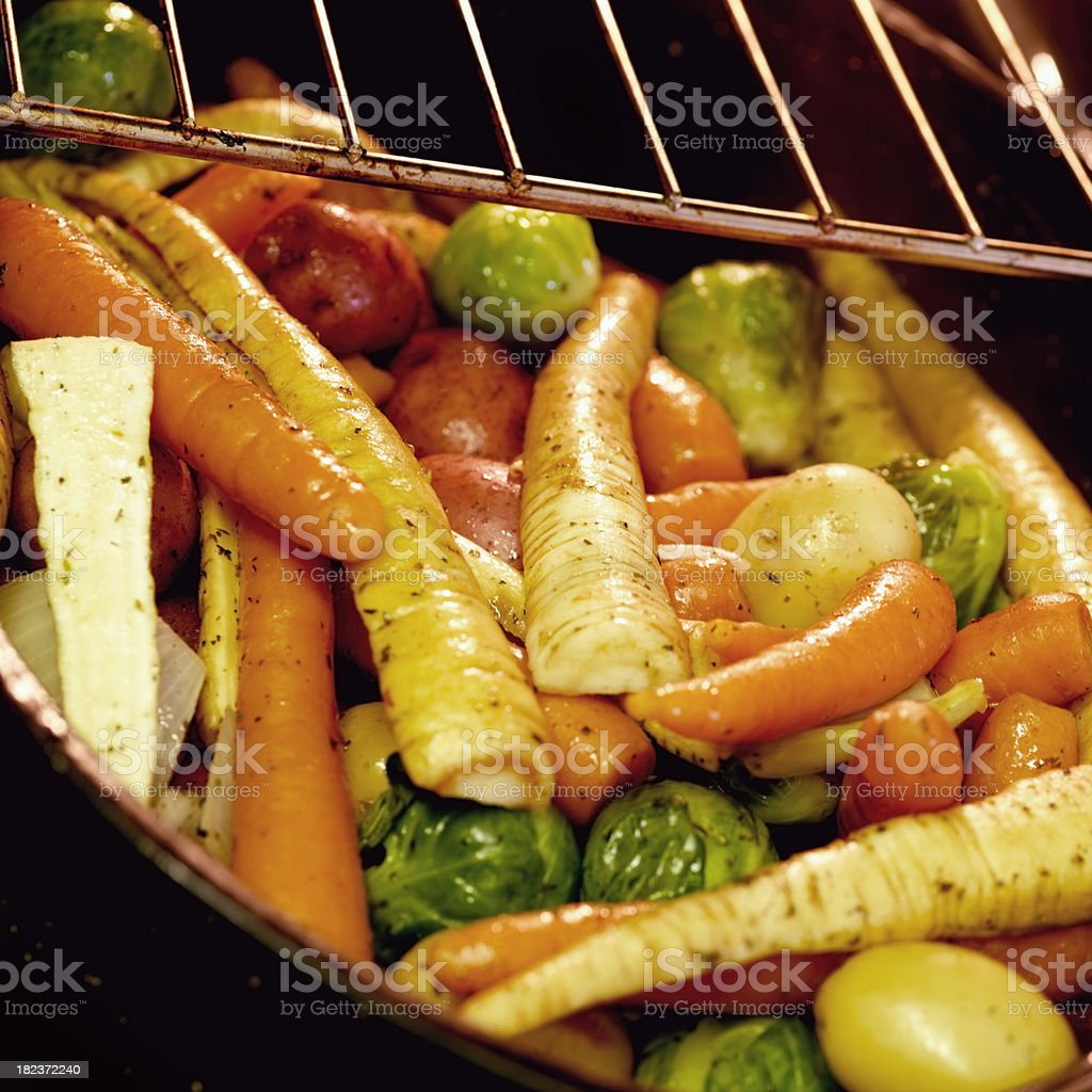 Roasted Vegetables in the Oven stock photo