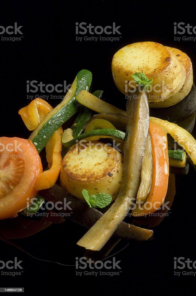 Légumes grillés photo libre de droits