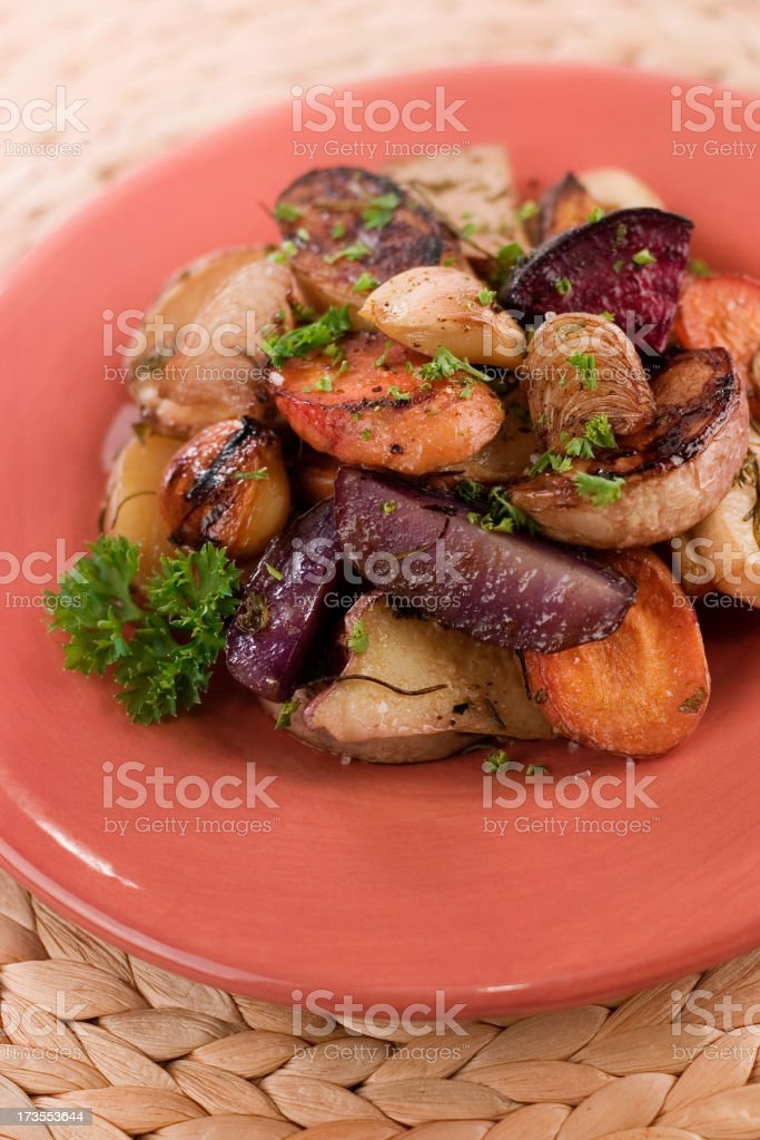 Roasted Vegetables royalty-free stock photo
