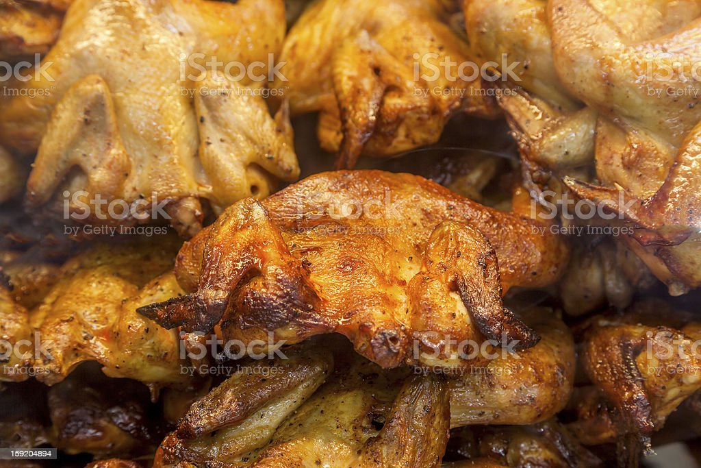 roasted whole chicken royalty-free stock photo