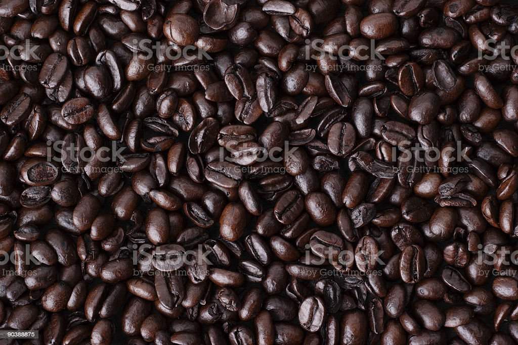 Roasted Whole Coffee Beans stock photo