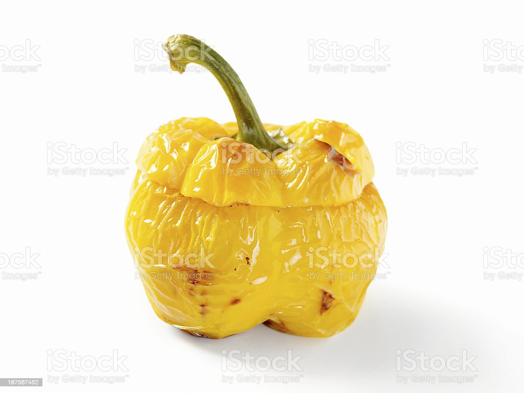 Roasted Yellow Pepper royalty-free stock photo