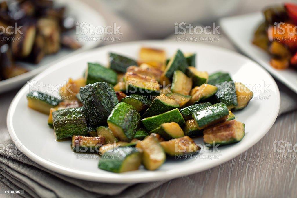 Roasted Zucchini royalty-free stock photo
