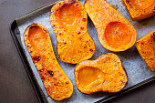 Roasting Butternut Pumpkin for Soup
