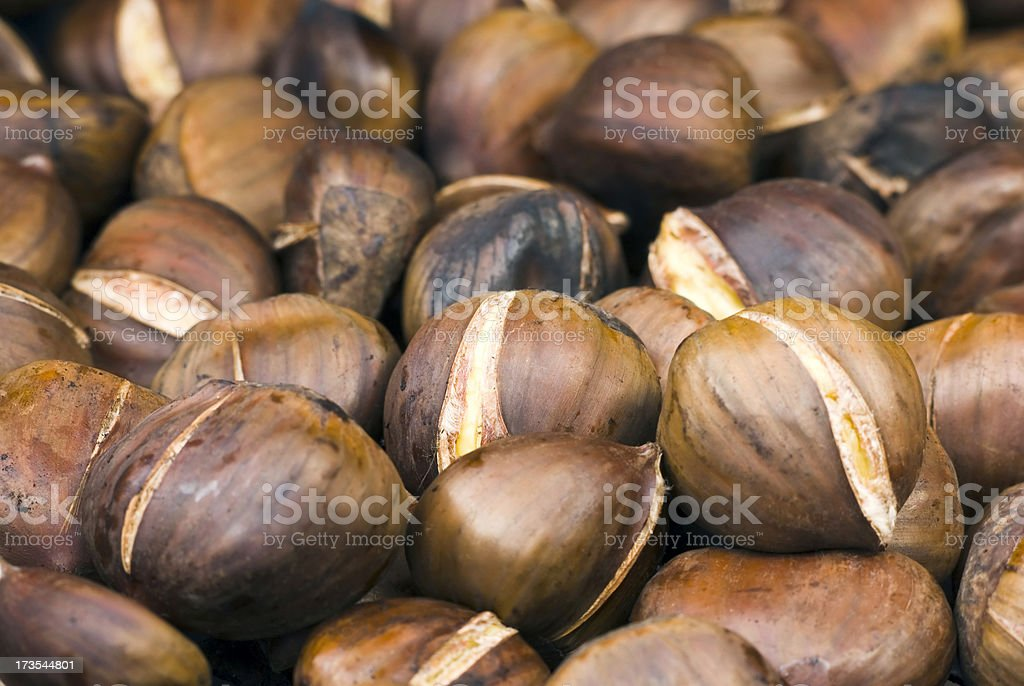 Roasting chestnuts - III royalty-free stock photo
