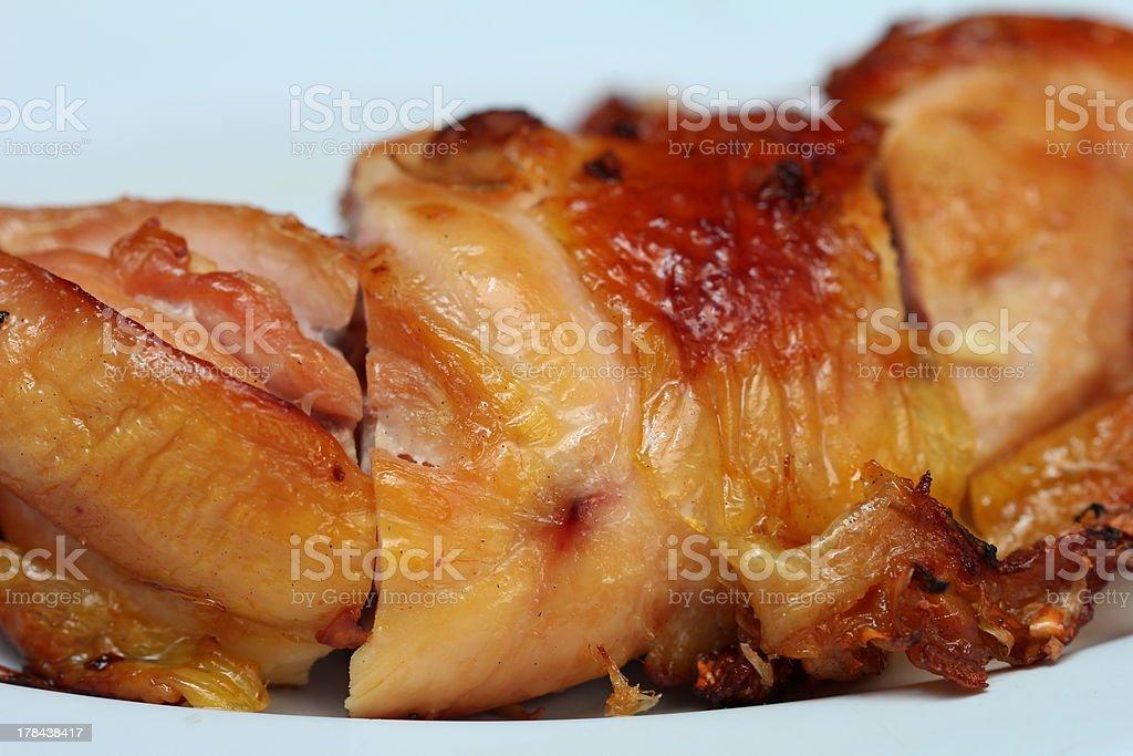 Roasting chicken royalty-free stock photo