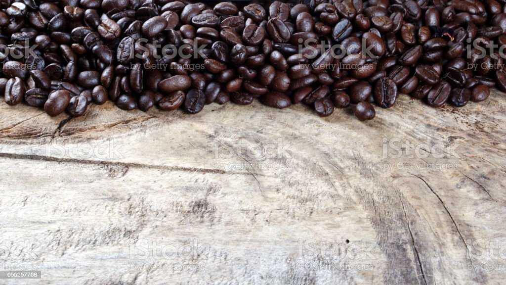 Roasting coffee beans background stock photo