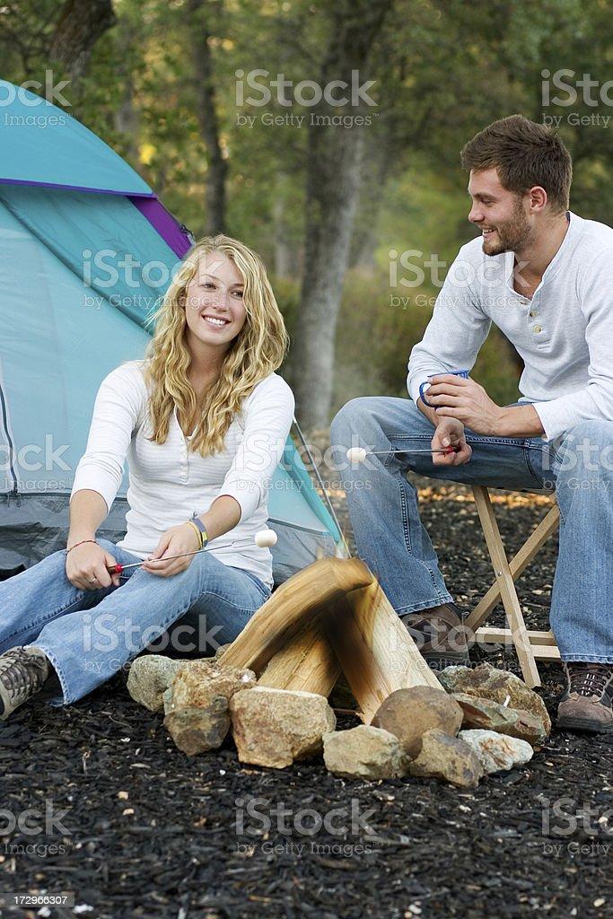 Roasting Marshmallows royalty-free stock photo
