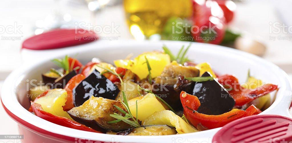 Roasting Vegetables royalty-free stock photo