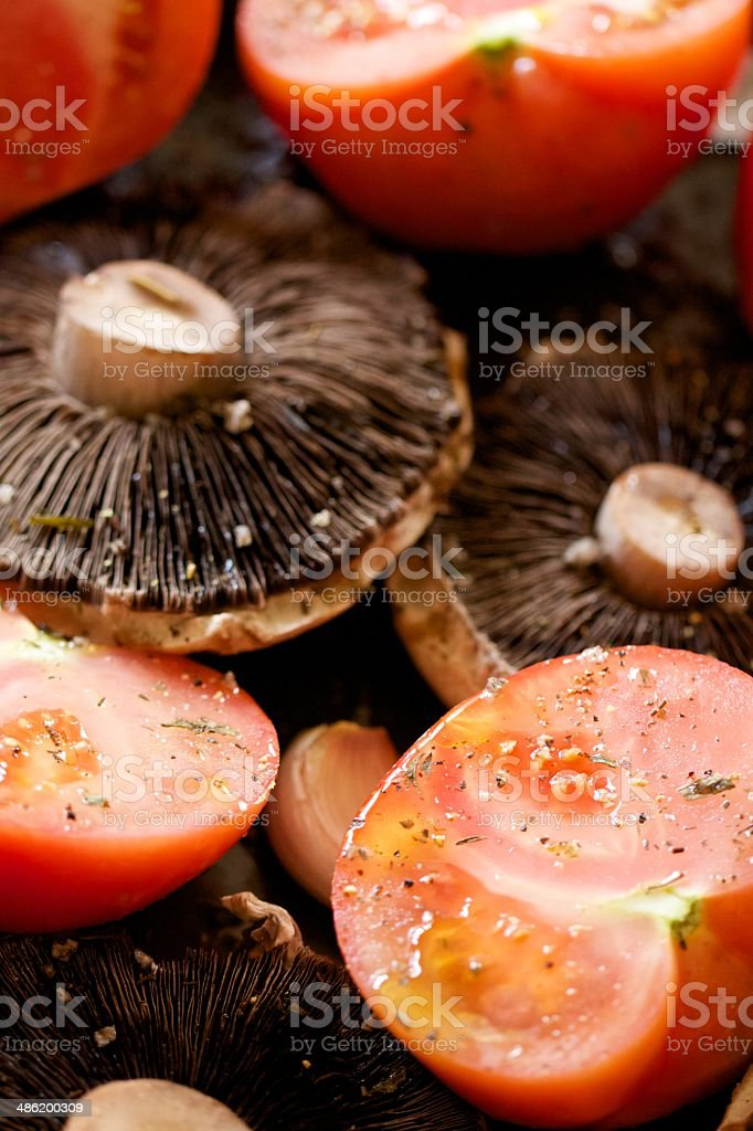 Roasting Vegetables royalty-free stock photo