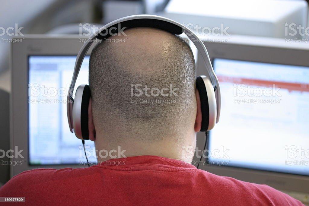 rob hard at work stock photo