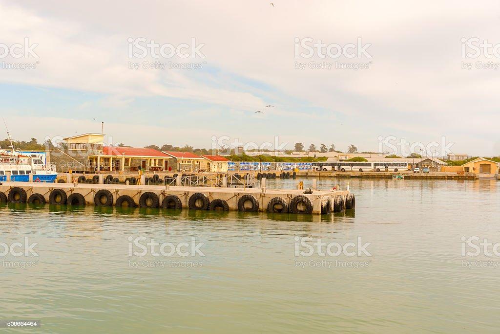 Robben Island dock,  South Africa stock photo