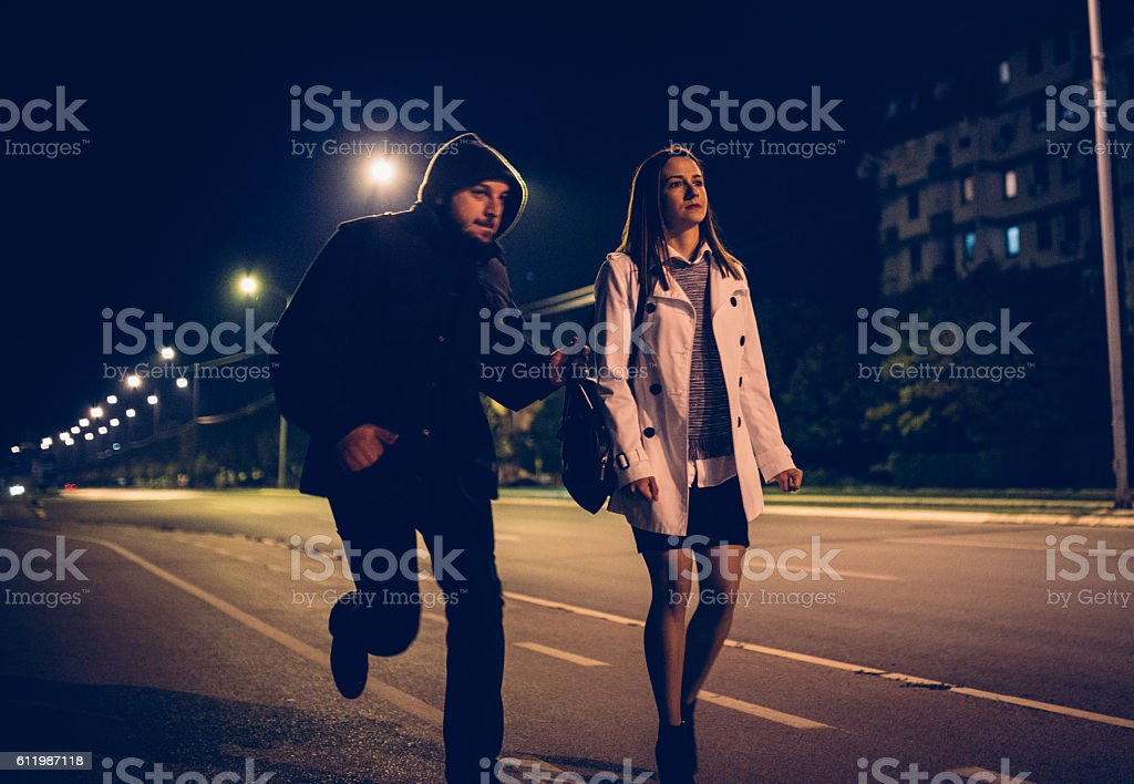 Robber in action stock photo