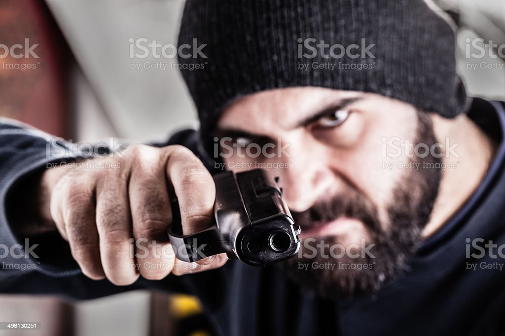 Robber stock photo