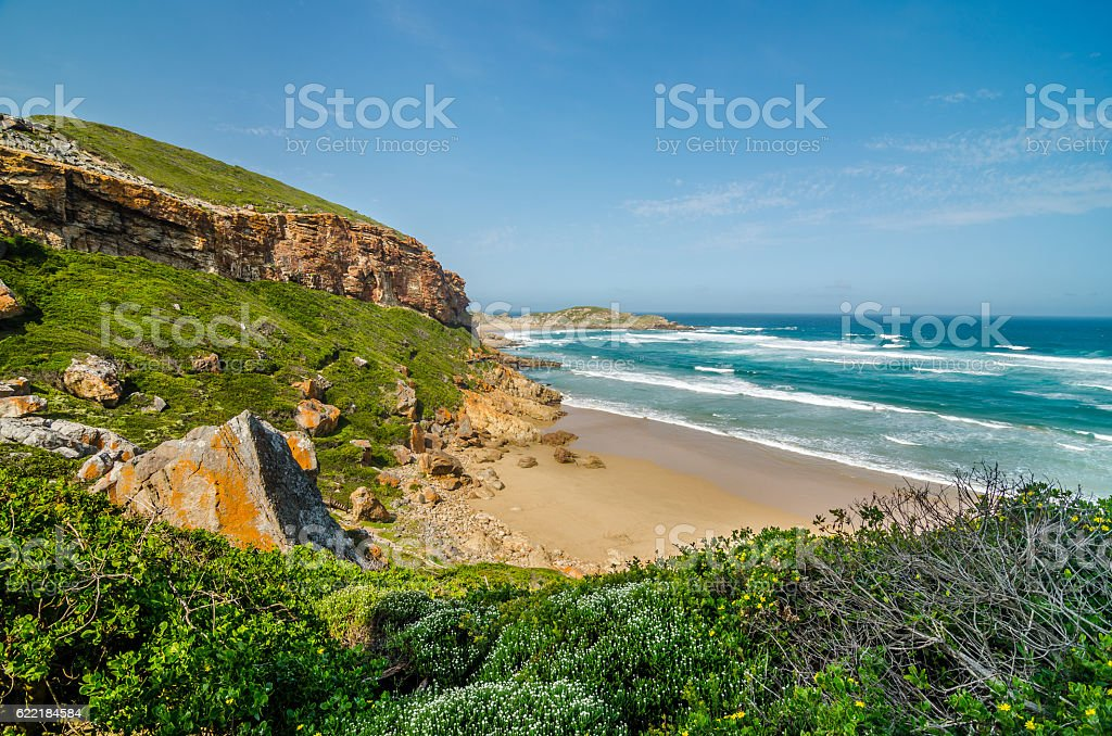 Robberg Nature Reserve, Garden Route, South African landscapes stock photo