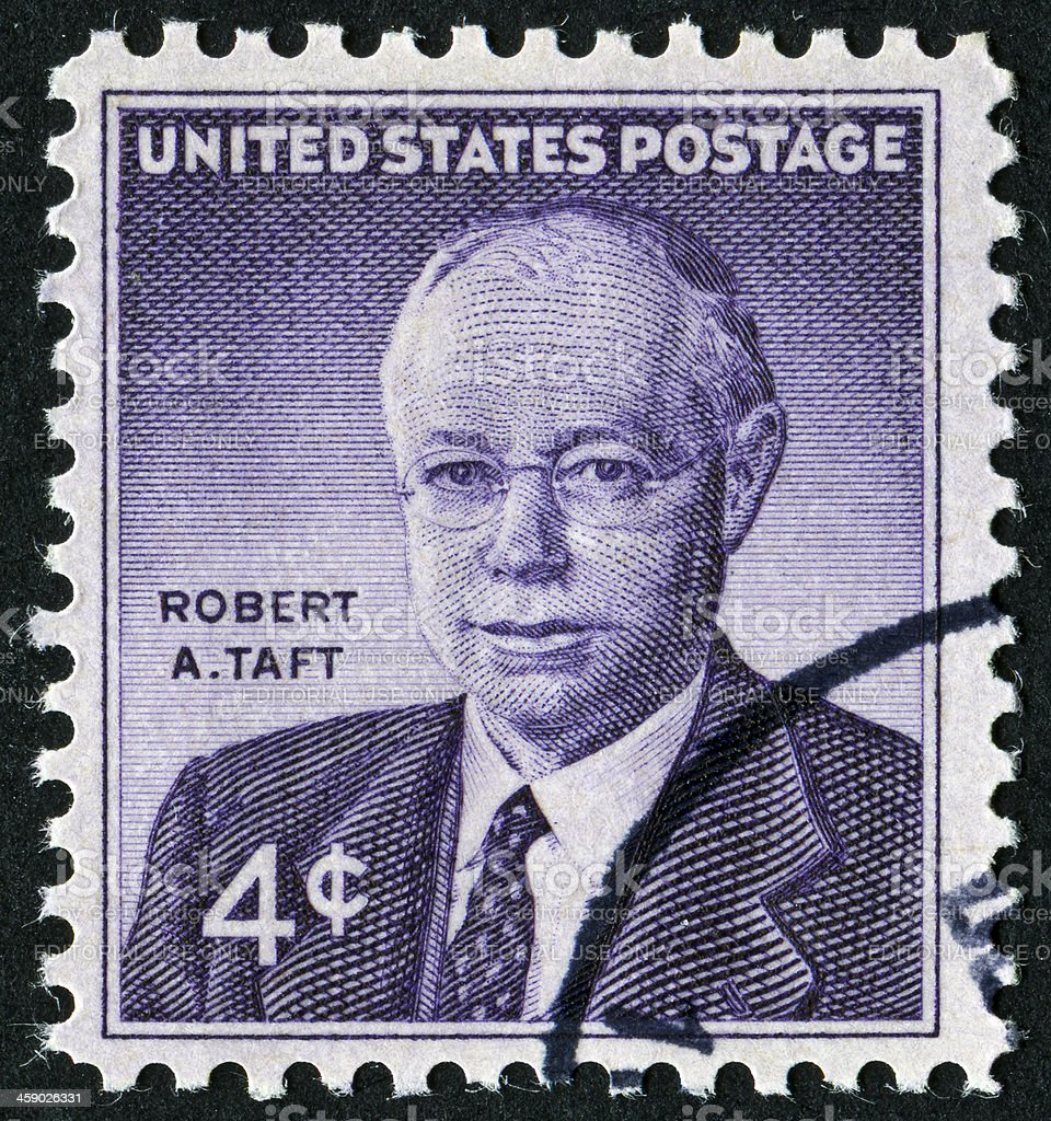 Robert A. Taft Stamp stock photo