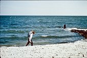 Robert and Caroline Kennedy on the Beach in Hyannis, 1964