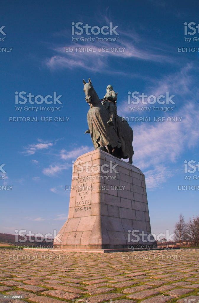 Robert Bruce Monument, Bannockburn, Stirling, Scotland stock photo
