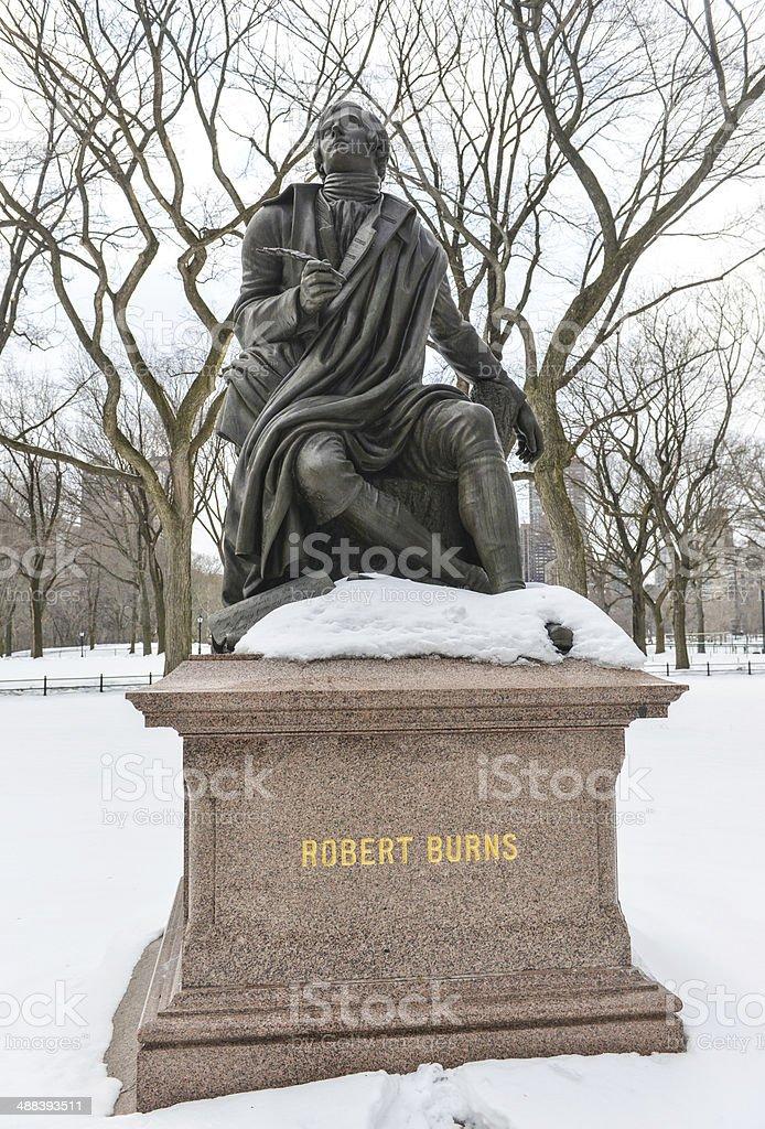 Robert Burns, Central Park, NYC stock photo