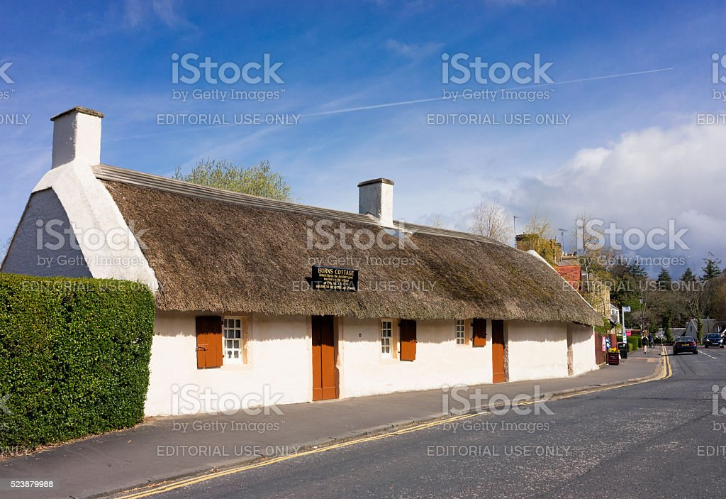 Robert Burns Cottage in Alloway, Ayrshire stock photo