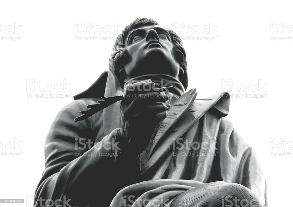 Robert Burns stock photo