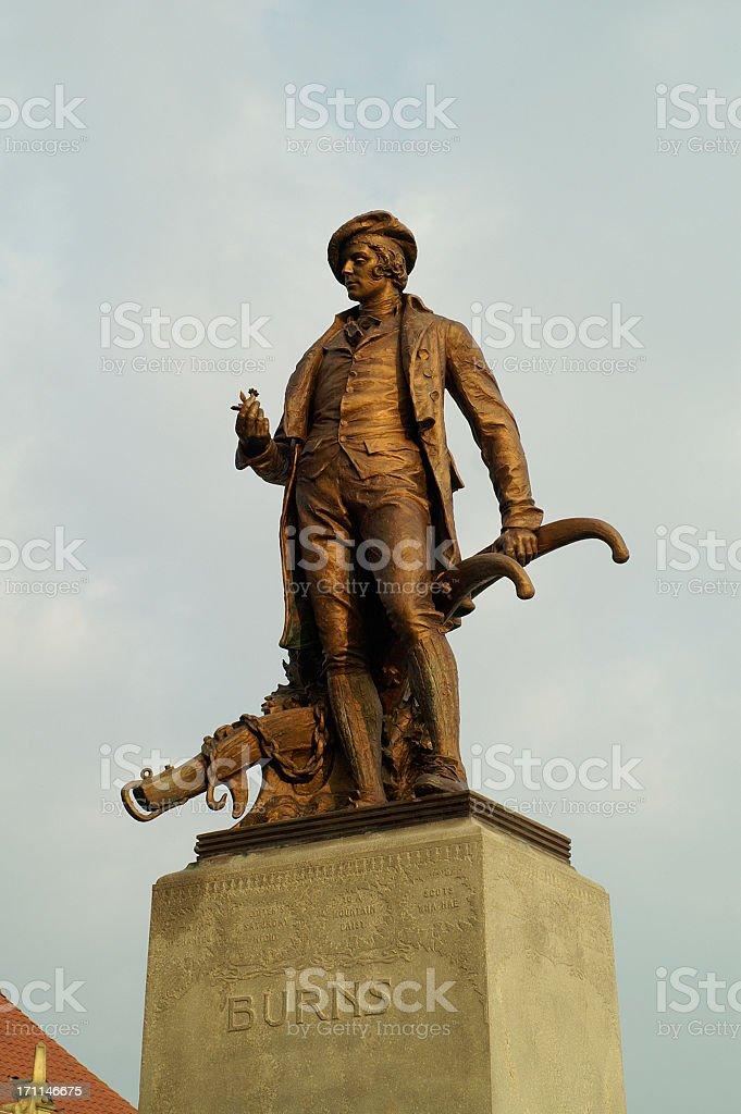 Robert Burns Statue stock photo