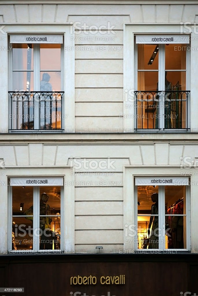 Robert Cavalli Store stock photo
