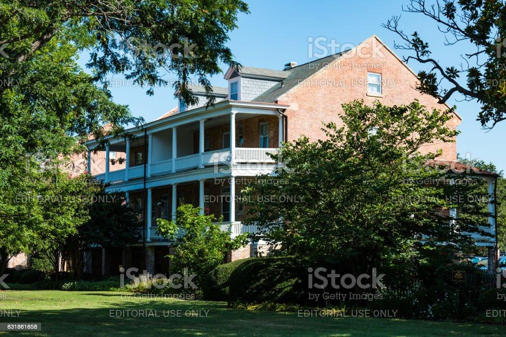 Robert E. Lee Home at Fort Monroe in Hampton, Virginia stock photo