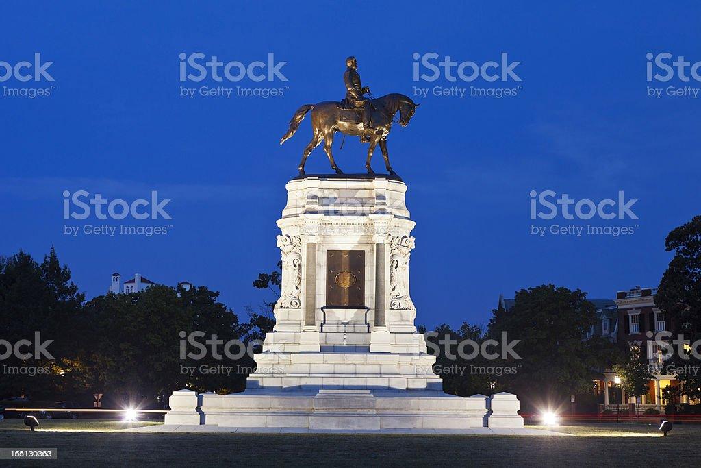 Robert E. Lee Monument In Richmond, Virginia stock photo