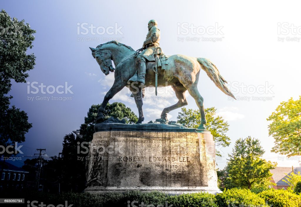 Robert E Lee stock photo