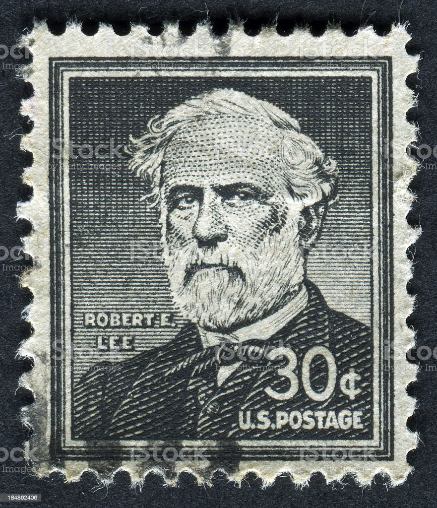 Robert E. Lee Stamp stock photo