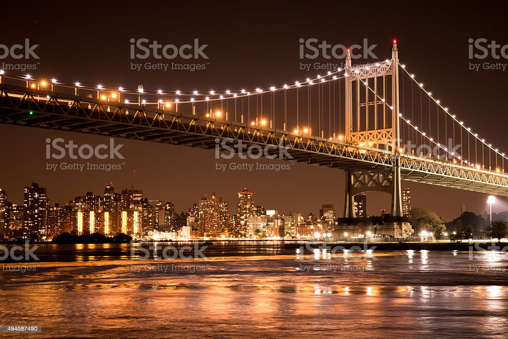 Robert F. Kennedy Triborough Bridge New York City stock photo