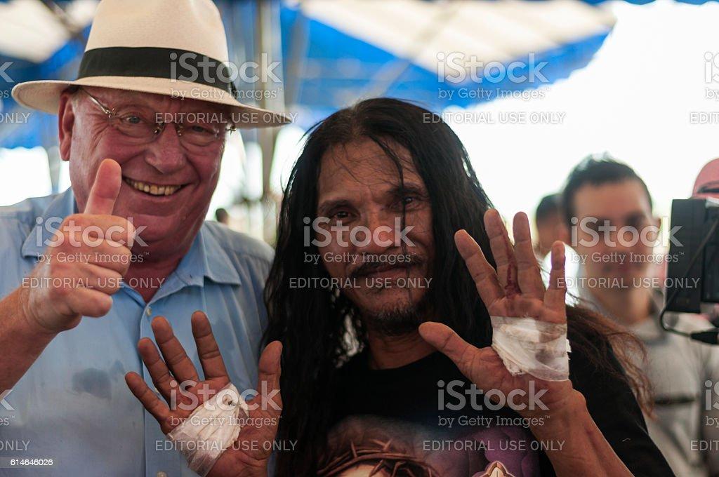 Robert Hetkeamper and Ruben Enaje stock photo