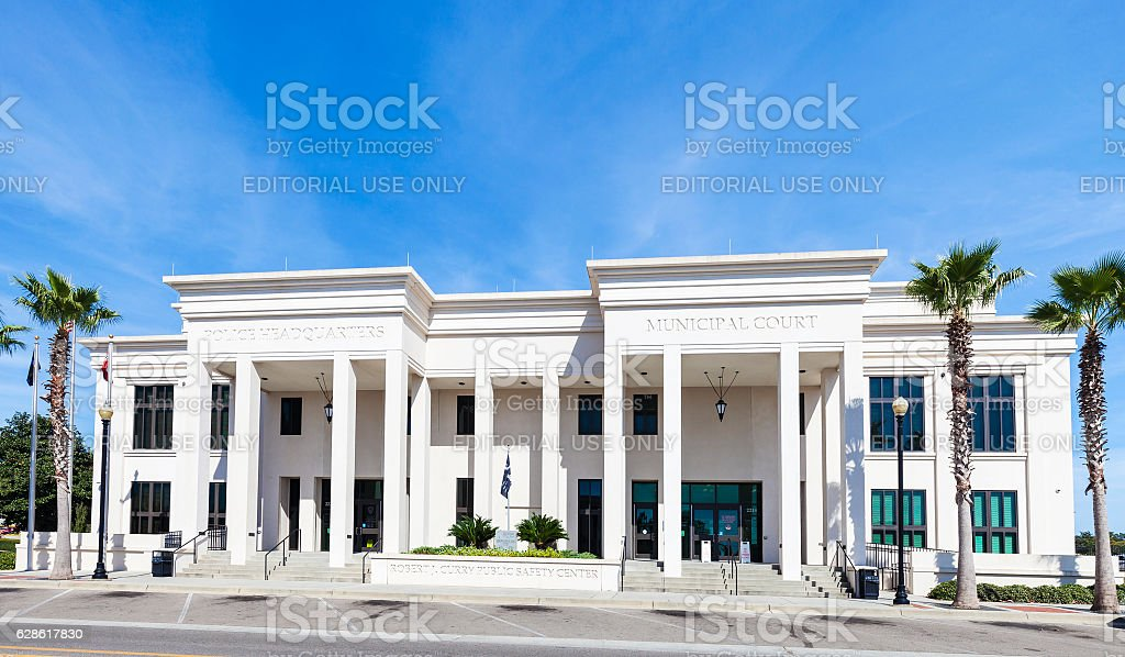 Robert J. Curry Public Safety Center In Biloxi, Mississippi stock photo