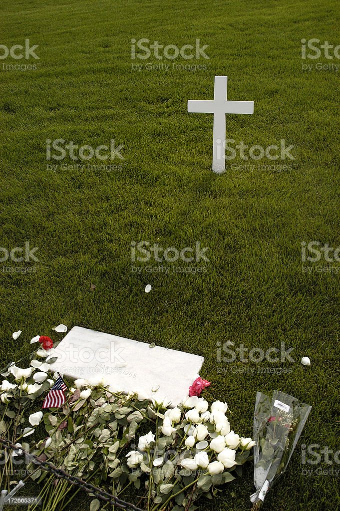 Robert Kennedy Grave royalty-free stock photo