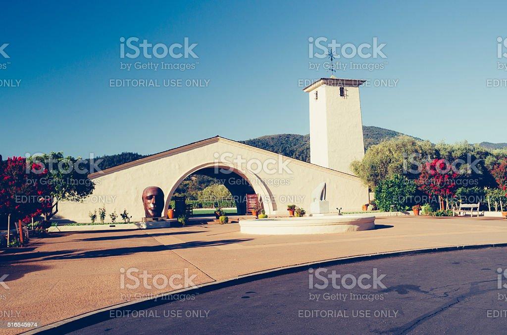 Robert Mondavi winery, Napa, California stock photo