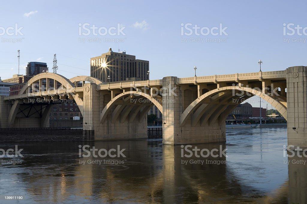Robert Street Bridge Span royalty-free stock photo