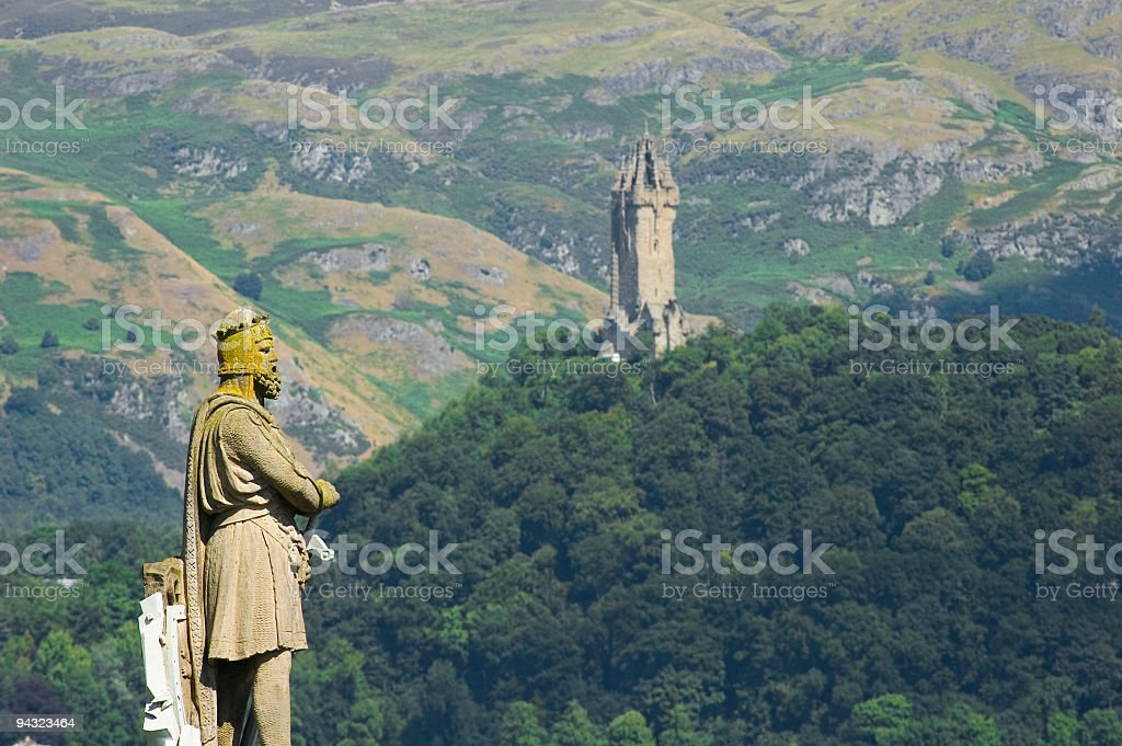 Robert the Bruce and Wallace Monument, Scotland stock photo