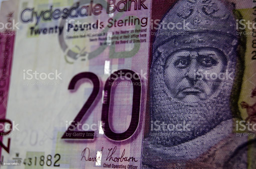 Robert the Bruce Banknote, Scotland stock photo