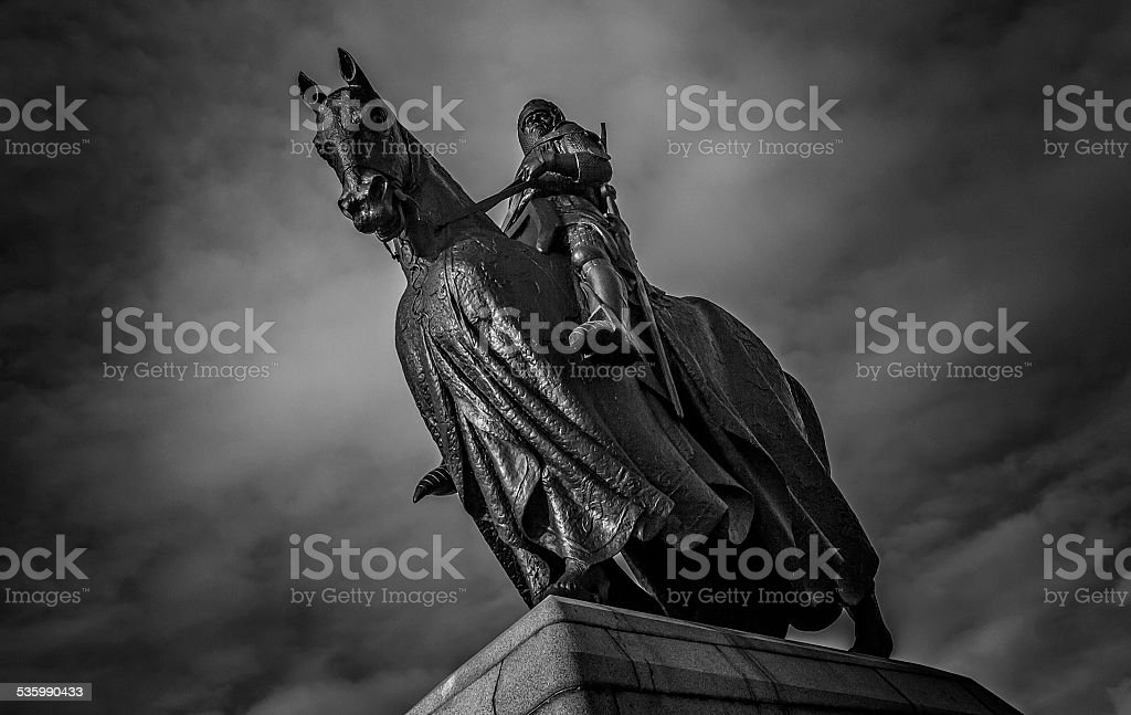 Robert the Bruce on a Horse stock photo