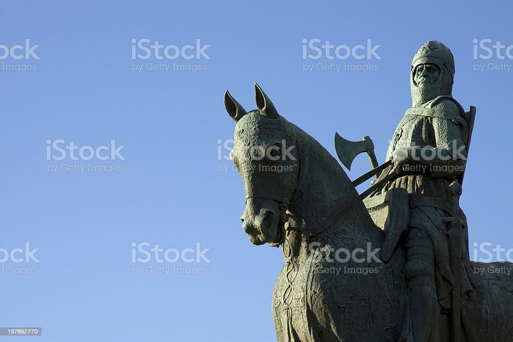 Robert The Bruce Statue, Bannockburn, Scotland. stock photo