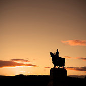 Robert The Bruce Statue In Silhouette.
