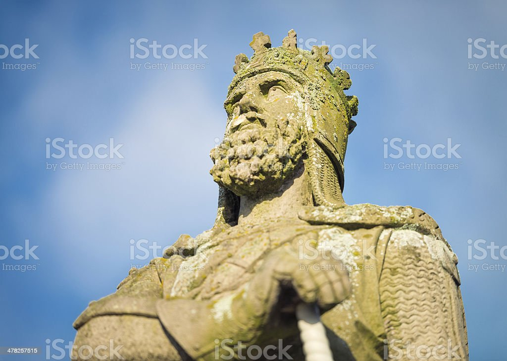 Robert the Bruce Statue stock photo