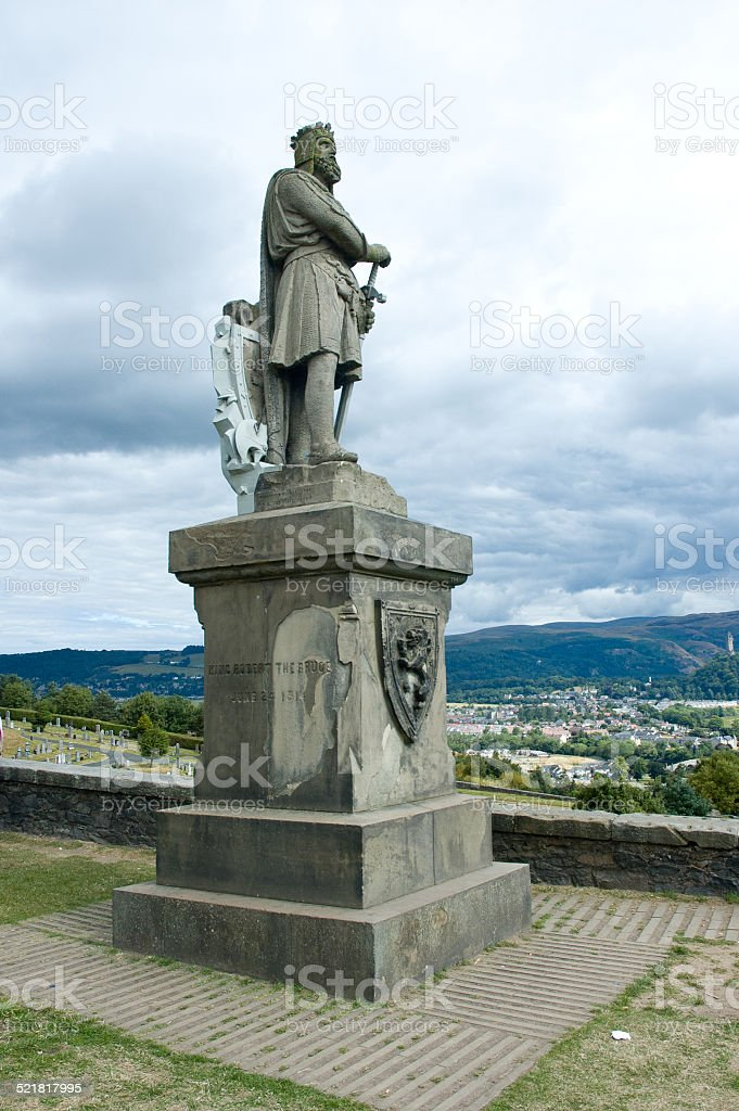 Robert the Bruce statue - Scotland, Stirling stock photo