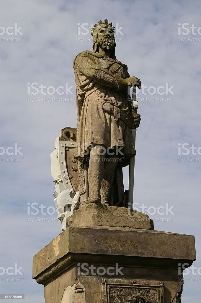 Robert the Bruce statue Stirling stock photo
